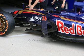 World © Octane Photographic Ltd. Scuderia Toro Rosso STR10. Thursday 2nd July 2015, F1 British GP Paddock, Silverstone, UK. Digital Ref: 1324LB5D8606