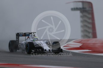 World © Octane Photographic Ltd. Williams Martini Racing FW37 – Felipe Massa. Friday 23rd October 2015, F1 USA Grand Prix Practice 1, Austin, Texas - Circuit of the Americas (COTA). Digital Ref: 1460LB1D8735