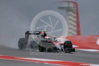 World © Octane Photographic Ltd. McLaren Honda MP4/30 - Jenson Button. Friday 23rd October 2015, F1 USA Grand Prix Practice 1, Austin, Texas - Circuit of the Americas (COTA). Digital Ref: 1460LB1D8963