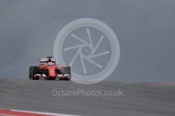 World © Octane Photographic Ltd. Scuderia Ferrari SF15-T– Sebastian Vettel. Friday 23rd October 2015, F1 USA Grand Prix Practice 1, Austin, Texas - Circuit of the Americas (COTA). Digital Ref: 1460LB1D8967