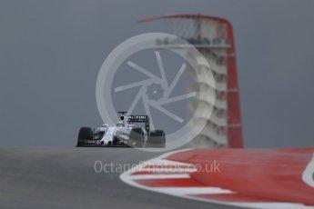 World © Octane Photographic Ltd. Williams Martini Racing FW37 – Felipe Massa. Friday 23rd October 2015, F1 USA Grand Prix Practice 1, Austin, Texas - Circuit of the Americas (COTA). Digital Ref: 1460LB1D9040