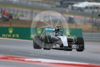 World © Octane Photographic Ltd. Mercedes AMG Petronas F1 W06 Hybrid – Nico Rosberg. Friday 23rd October 2015, F1 USA Grand Prix Practice 1, Austin, Texas - Circuit of the Americas (COTA). Digital Ref: 1460LB1D9390