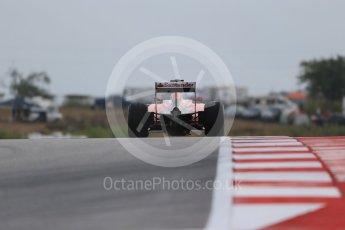 World © Octane Photographic Ltd. Scuderia Ferrari SF15-T– Sebastian Vettel. Friday 23rd October 2015, F1 USA Grand Prix Practice 1, Austin, Texas - Circuit of the Americas (COTA). Digital Ref: 1460LB1D9580