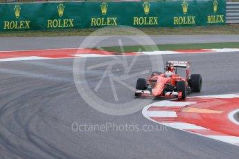World © Octane Photographic Ltd. Scuderia Ferrari SF15-T– Sebastian Vettel. Friday 23rd October 2015, F1 USA Grand Prix Practice 1, Austin, Texas - Circuit of the Americas (COTA). Digital Ref: 1460LB1D9639