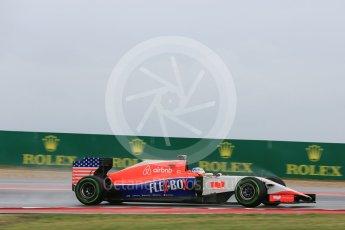 World © Octane Photographic Ltd. Manor Marussia F1 Team MR03B – William Stevens. Friday 23rd October 2015, F1 USA Grand Prix Practice 1, Austin, Texas - Circuit of the Americas (COTA). Digital Ref: 1460LB5D2862