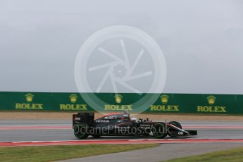 World © Octane Photographic Ltd. McLaren Honda MP4/30 – Fernando Alonso. Friday 23rd October 2015, F1 USA Grand Prix Practice 1, Austin, Texas - Circuit of the Americas (COTA). Digital Ref: 1460LB5D2904