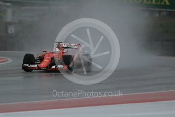 World © Octane Photographic Ltd. Scuderia Ferrari SF15-T– Sebastian Vettel. Sunday 25th October 2015, F1 USA Grand Prix Qualifying, Austin, Texas - Circuit of the Americas (COTA). Digital Ref: 1464LB1D0808