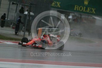 World © Octane Photographic Ltd. Scuderia Ferrari SF15-T– Kimi Raikkonen. Sunday 25th October 2015, F1 USA Grand Prix Qualifying, Austin, Texas - Circuit of the Americas (COTA). Digital Ref: 1464LB1D0880