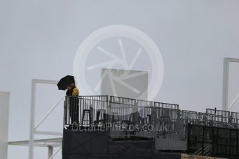 World © Octane Photographic Ltd. Formula 1 fans brave the wet weather conditions at COTA. Sunday 25th October 2015, F1 USA Grand Prix Qualifying, Austin, Texas - Circuit of the Americas (COTA). Digital Ref: 1464LB1D1016