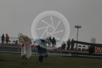 World © Octane Photographic Ltd. Formula 1 fans brave the wet weather conditions at COTA. Sunday 25th October 2015, F1 USA Grand Prix Qualifying, Austin, Texas - Circuit of the Americas (COTA). Digital Ref: 1464LB1D1041