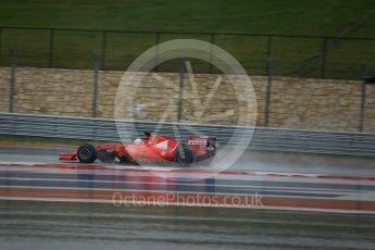 World © Octane Photographic Ltd. Scuderia Ferrari SF15-T– Sebastian Vettel. Sunday 25th October 2015, F1 USA Grand Prix Qualifying, Austin, Texas - Circuit of the Americas (COTA). Digital Ref: 1464LB5D3348