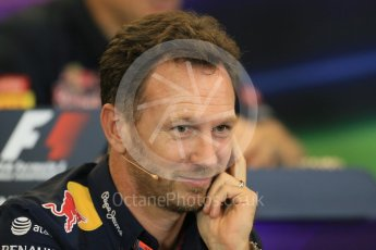 World © Octane Photographic Ltd. FIA Team Personnel Press Conference. Friday 23rd October 2015, F1 USA Grand Prix, Austin, Texas - Circuit of the Americas (COTA). Infiniti Red Bull Racing Team Principal – Christian Horner. Digital Ref: 1462LB1D9648