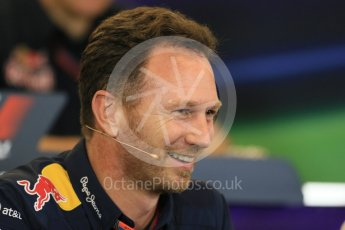 World © Octane Photographic Ltd. FIA Team Personnel Press Conference. Friday 23rd October 2015, F1 USA Grand Prix, Austin, Texas - Circuit of the Americas (COTA). Infiniti Red Bull Racing Team Principal – Christian Horner. Digital Ref: