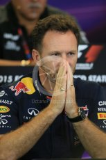 World © Octane Photographic Ltd. FIA Team Personnel Press Conference. Friday 23rd October 2015, F1 USA Grand Prix, Austin, Texas - Circuit of the Americas (COTA). Infiniti Red Bull Racing Team Principal – Christian Horner. Digital Ref: 1462LB1D9747