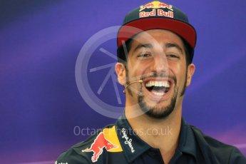 World © Octane Photographic Ltd. FIA Drivers' Press Conference. Thursday 22nd October 2015, F1 USA Grand Prix, Austin, Texas - Circuit of the Americas (COTA). Infiniti Red Bull Racing – Daniel Ricciardo. Digital Ref: 1458LB1D7885