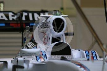 World © Octane Photographic Ltd. Williams Martini Racing FW37. Wednesday 21st October 2015, F1 USA Grand Prix Set Up, Austin, Texas - Circuit of the Americas (COTA). Digital Ref: 1457LB1D8128