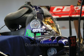 World © Octane Photographic Ltd. Scuderia Toro Rosso STR10. Wednesday 21st October 2015, F1 USA Grand Prix Set Up, Austin, Texas - Circuit of the Americas (COTA). Digital Ref: 1457LB1D8370