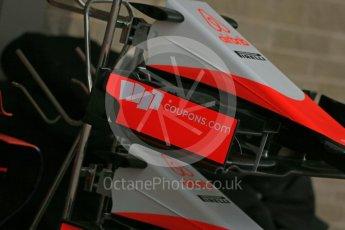 World © Octane Photographic Ltd. Manor Marussia F1 Team MR03B. Wednesday 21st October 2015, F1 USA Grand Prix Set Up, Austin, Texas - Circuit of the Americas (COTA). Digital Ref: 1457LB1D8426