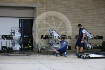 World © Octane Photographic Ltd. Williams Martini Racing FW37. Wednesday 21st October 2015, F1 USA Grand Prix Set Up, Austin, Texas - Circuit of the Americas (COTA). Digital Ref: 1457LB5D2693
