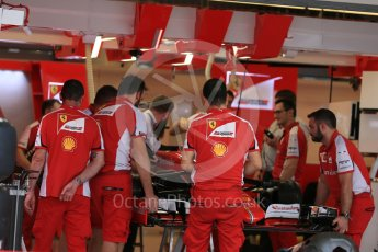 World © Octane Photographic Ltd. Scuderia Ferrari SF15-T. Wednesday 21st October 2015, F1 USA Grand Prix Set Up, Austin, Texas - Circuit of the Americas (COTA). Digital Ref: 1457LB5D2694