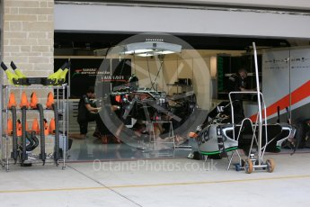 World © Octane Photographic Ltd. Sahara Force India VJM08B. Wednesday 21st October 2015, F1 USA Grand Prix Set Up, Austin, Texas - Circuit of the Americas (COTA). Digital Ref: 1457LB5D2711