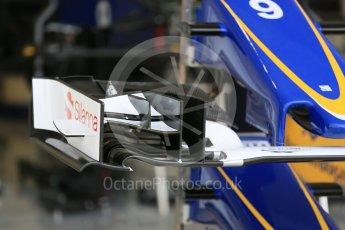 World © Octane Photographic Ltd. Sauber F1 Team C34-Ferrari. Wednesday 21st October 2015, F1 USA Grand Prix Set Up, Austin, Texas - Circuit of the Americas (COTA). Digital Ref: 1457LB5D2736