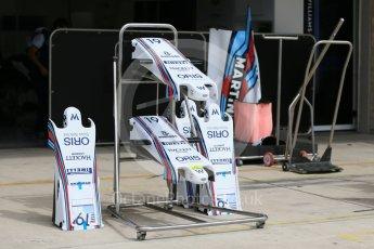 World © Octane Photographic Ltd. Williams Martini Racing FW37. Wednesday 21st October 2015, F1 USA Grand Prix Set Up, Austin, Texas - Circuit of the Americas (COTA). Digital Ref: 1456LB1D7559