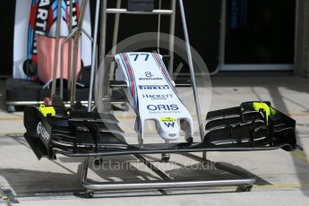 World © Octane Photographic Ltd. Williams Martini Racing FW37. Wednesday 21st October 2015, F1 USA Grand Prix Set Up, Austin, Texas - Circuit of the Americas (COTA). Digital Ref: 1456LB1D7561