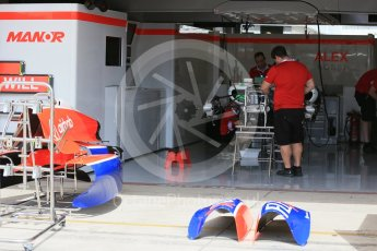 World © Octane Photographic Ltd. Manor Marussia F1 Team MR03B. Wednesday 21st October 2015, F1 USA Grand Prix Set Up, Austin, Texas - Circuit of the Americas (COTA). Digital Ref: 1456LB1D7604