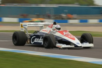 World © Octane Photographic Ltd. Saturday 2nd May 2015. Donington Historic Festival - Historic F1 Car demonstration laps. 1994 Toleman TG 184 (Ex-Ayrton Senna). Digital Ref : 1240CB1L5695