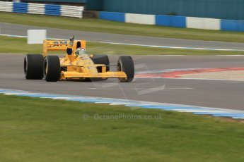 World © Octane Photographic Ltd. Saturday 2nd May 2015. Donington Historic Festival - Historic F1 Car demonstration laps. 1989 Lotus 101/3 - Steve Griffiths. (Ex-Satoru Nakajima). Digital Ref : 1240CB1L5724