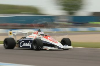 World © Octane Photographic Ltd. Saturday 2nd May 2015. Donington Historic Festival - Historic F1 Car demonstration laps. 1994 Toleman TG 184 (Ex-Ayrton Senna). Digital Ref : 1240CB1L5756