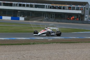 World © Octane Photographic Ltd. Saturday 2nd May 2015. Donington Historic Festival - Historic F1 Car demonstration laps. 1994 Toleman TG 184 (Ex-Ayrton Senna). Digital Ref : 1240LB1D5372