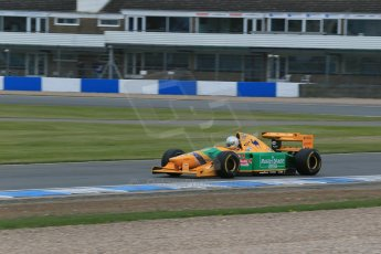 World © Octane Photographic Ltd. Saturday 2nd May 2015. Donington Historic Festival - Historic F1 Car demonstration laps. 1993 Benetton B193B/4 (Ex-Michael Shumacher). Digital Ref : 1240LB1D5413