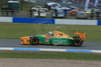 World © Octane Photographic Ltd. Saturday 2nd May 2015. Donington Historic Festival - Historic F1 Car demonstration laps. 1993 Benetton B193B/4 (Ex-Michael Shumacher). Digital Ref : 1240LB1D5424