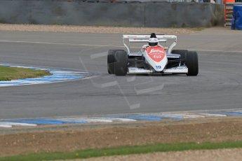 World © Octane Photographic Ltd. Saturday 2nd May 2015. Donington Historic Festival - Historic F1 Car demonstration laps. 1994 Toleman TG 184 (Ex-Ayrton Senna). Digital Ref : 1240LB7D1004