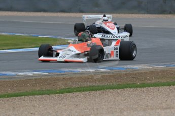 World © Octane Photographic Ltd. Saturday 2nd May 2015. Donington Historic Festival - Historic F1 Car demonstration laps. 1980 McLaren M29 (Ex John Watson and Alain Prost). Digital Ref : 1240LB7D1169