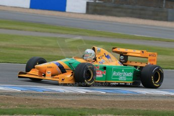 World © Octane Photographic Ltd. Saturday 2nd May 2015. Donington Historic Festival - Historic F1 Car demonstration laps. 1993 Benetton B193B/4 (Ex-Michael Shumacher). Digital Ref : 1240LB7D1199