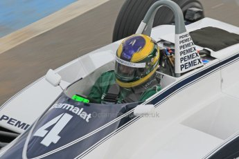 World © Octane Photographic Ltd. Wednesday 4th March 2015, General un-silenced test day – Donington Park, FIA Historic F1 Championship - James Hanson, Ex Nelson Piquet Brabham BT52. Digital Ref : 1196CB1L5226
