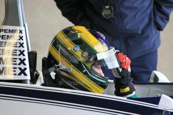 World © Octane Photographic Ltd. Wednesday 4th March 2015, General un-silenced test day – Donington Park, FIA Historic F1 Championship - James Hanson, Ex Nelson Piquet Brabham BT52. Digital Ref : 1196CB1L5500