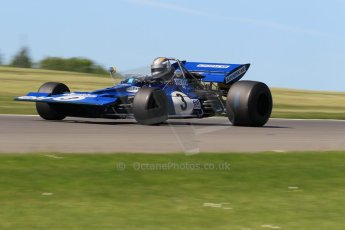 World © Octane Photographic Ltd. Donington Park general unsilenced testing June 4th 2015. Rob Hall testing an ex-Jackie Stewart Tyrrell 003 - FIA Historic F1 Championship/Masters GP. Digital Ref :
