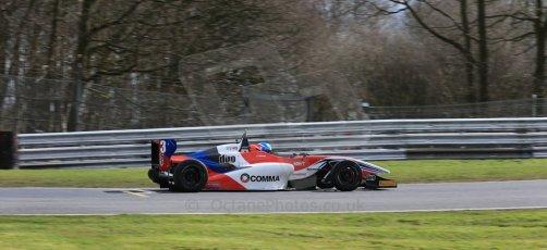 World © Octane Photographic Ltd. DUO BRDC Formula 4 Qualifying, Oulton Park, UK, Saturday 4th April 2015. MSV F4-013. HHC Motorsport. Will Palmer. Digital Ref : 1213LB1D2821