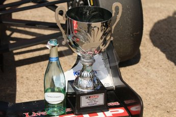 World © Octane Photographic Ltd. Saturday 25th April 2015, MSVR F3 Cup Race 1 parc ferme. Donington Park. Chris Dittmann Racing (CDR) – Kieran Vernon – Dallara F307 Mercedes HWA. Digital Ref: 1235CB7B1905