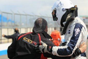 World © Octane Photographic Ltd. Saturday 25th April 2015, MSVR F3 Cup Race 1 parc ferme. Donington Park. Chris Dittmann Racing (CDR) – Kieran Vernon – Dallara F307 Mercedes HWA. Digital Ref: 1235LW1L4654