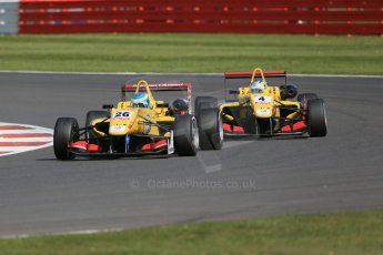 World © Octane Photographic Ltd. FIA European F3 Championship, Silverstone Race 2, UK, Saturday 11th April 2015. Jagonya Ayam with Carlin – Ryan Tveter and Gustavo Menezes, Dallara F312 – Volkswagen. Digital Ref : 1223LB1D8124