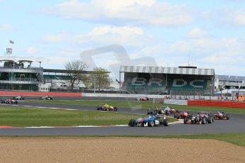 World © Octane Photographic Ltd. FIA European F3 Championship, Silverstone Race 2, UK, Saturday 11th April 2015. Team West-Tec F3 – Fabian Schiller, Dallara F312 – Mercedes-Benz. Digital Ref : 1223LW1L0364