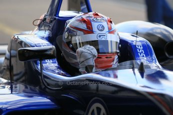 World © Octane Photographic Ltd. FIA European F3 Championship, Silverstone Race 2 parc ferme, UK, Saturday 11th April 2015. Carlin – George Russell, Dallara F312 – Volkswagen. Digital Ref : 1223LW1L0542