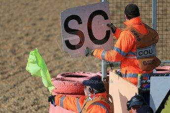 World © Octane Photographic Ltd. FIA European F3 Championship, Silverstone Race 3, UK, Sunday 12th April 2015. Safety Car board. Digital Ref : 1224LB1D8331