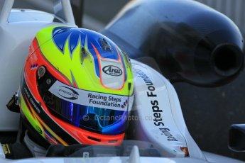 World © Octane Photographic Ltd. FIA European F3 Championship, Silverstone Race 3 parc ferme, UK, Sunday 12th April 2015. Prema Powerteam – Jake Dennis, Dallara F312 – Mercedes-Benz. Digital Ref : 1224LW1L0843