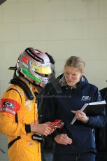World © Octane Photographic Ltd. FIA European F3 Championship, Silverstone Race 3 parc ferme, UK, Sunday 12th April 2015. Jagonya Ayam with Carlin – Antonia Giovinazzi, Dallara F312 – Volkswagen. Digital Ref : 1224LW1L0875